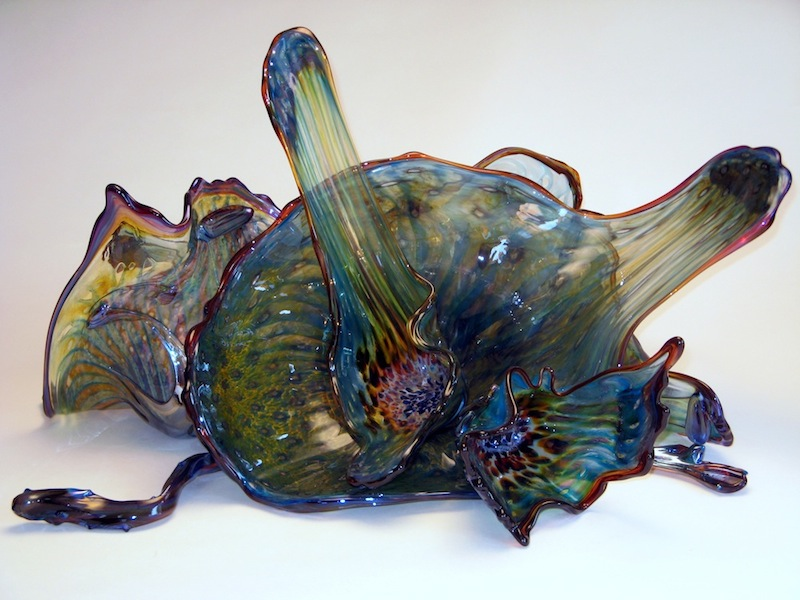Hand Blown Glass Ocean Art