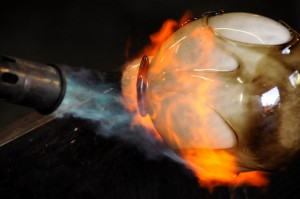Forming Blown Glass Art