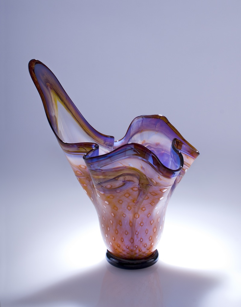 Tangerine Glass Art Vessel